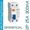 Interruptor diferencial 2 x 25 300 mA AC