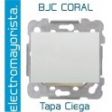 Placa ciega, Ancha BJC Coral Blanco