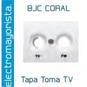 Tapa Toma RTV-SAT BJC Coral Blanco