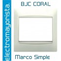 Marco Simple BJC Coral Blanco C/Cerco