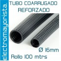Rollo 100 mtrs tubo coarrugado Forrado M16