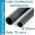 Rollo 100 mtrs tubo coarrugado FORRADO M25
