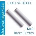 Tubo PVC Rígido  M40 (3 mtrs)