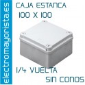 CAJA ESTANCA 100 X 100 X 50 mm S/CONOS