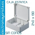 CAJA ESTANCA 240 X 190 X 90 mm S/CONOS