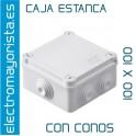 CAJA ESTANCA 100 X 100 X 50 mm C/CONOS