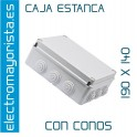 CAJA ESTANCA 190 X 140 X 70 mm C/CONOS