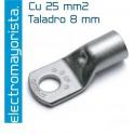 Terminal Cu 25 mm2 (taladro 8 mm)