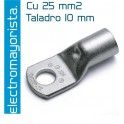 Terminal Cu 25 mm2 (taladro 10 mm)