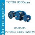 MOTOR 0.33CV 3000 RPM TRIF. B3/B5/B14
