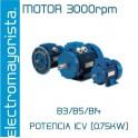 MOTOR 1CV 3000 RPM TRIF. B3/B5/B14