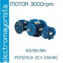 MOTOR 2CV 3000 RPM TRIF. B3/B5/B14