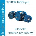MOTOR 1CV 1500 RPM TRIF. B3/B5/B14