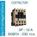 CONTACTOR 3P 12A BOBINA-230V 1NO