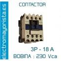 CONTACTOR 3P 18A BOBINA-230V 1NO