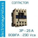 CONTACTOR 3P 25A BOBINA-230V 1NO