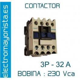 CONTACTOR 3P 32A BOBINA-230V 1NO