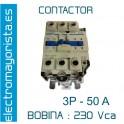 CONTACTOR 3P 50A BOBINA-230V 1NO+1NC