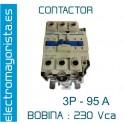 CONTACTOR 3P 95A BOBINA-230V 1NO+1NC
