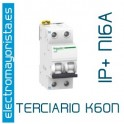 I. magnetotérmico 1P+N 16A Schneider K60N (Terciario)