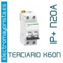 I. magnetotérmico 1P+N 20A Schneider K60N (Terciario)