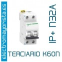 I. magnetotérmico 1P+N 32A Schneider K60N (Terciario)