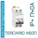 I. magnetotérmico 1P+N 40A Schneider K60N (Terciario)