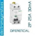 I. diferencial 2P x 25 30 mA AC Schneider