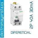 I. diferencial 2P x 40 30 mA AC Schneider