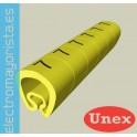 SENALIZ.PVC PLAST.7-18mm -R- AMARILLO (100 udes)