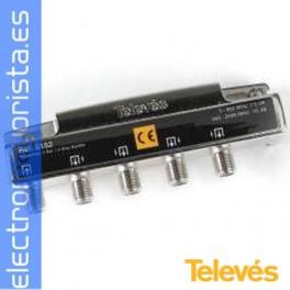 REPARTIDOR 4S CONECTOR F-ROSCADO.(1 ud)