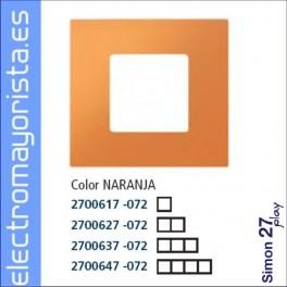 Simon 2700627-072 Funda 2 Elementos Naranja