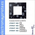 FUNDA 2 ELEMENTO SIMON 27 PLAY BLACK/WHITE