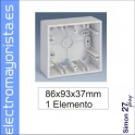 CAJA SUPERFICIE 1 ELEMENTO SIMON 27 PLAY MARFIL