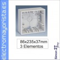 CAJA SUPERFICIE 3 ELEMENTO SIMON 27 PLAY BLANCO