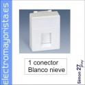 ADAPTADOR 1 CONECTOR ROJO -AMP BLANCO NIEVE