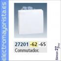 CONMUTADOR ANCHO SIMON 27 PLAY BLANCO NIEVE