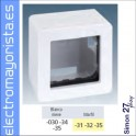 CAJA SUPERFICIE 2 ELEMENTOS SIMON 27 PLAY BLANCO NIEVE