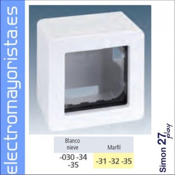 Caja superficie 3 elementos simon 27 play - Simon 27 blanco ...