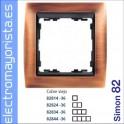 MARCO 4 ELEMENTOS COBRE VIEJO/ZOCALO GRAFITO SIMON 82