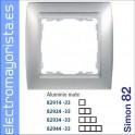 MARCO 3 ELEMENTOS ALUMINIOMATE/ZOCALO ALUMINIO SIMON 82