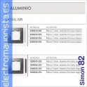 MARCO 1 ELEMENTOS ALUMINIO FRIO BASE BLANCA SIMON 82 DETAIL