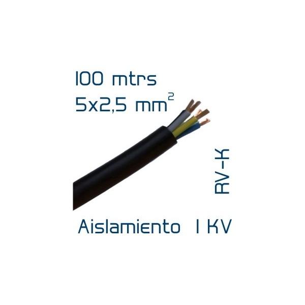 cable cobre 5 x 2 5 mm2 rv k 100 mtrs. Black Bedroom Furniture Sets. Home Design Ideas