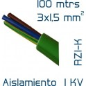 Cable Cobre 3 x 1,5 mm2 RV-K