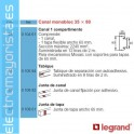 CANAL MONOBLOC 50x105mm PVC BLANCO DLP LEGRAND