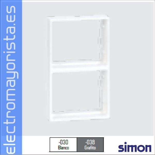 Placa adaptadora doble 500 cima simon 27 bl - Simon 27 blanco ...