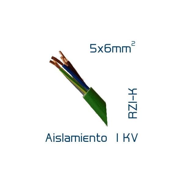 Cable cobre 5 x 6 mm2 rz1 k sin hal genos corte a medida - Cable electrico para exterior ...