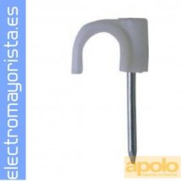 GRAPA PLASTIGRAP PB-3 DIAMETRO 9x5 mm BLANCA BOLSA APOLO