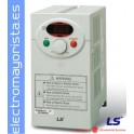 VARIADOR DE FRECUENCIA 0,4 KW (0,5 CV) ENTRADA MONOFASICA MARCA LS (LG) SV004IC5-1F