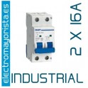 Magnetotérmico 2P 16 A (Industrial)